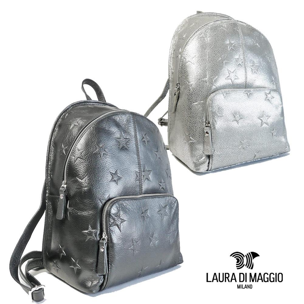 ローラ ディ マジオ LAURA DI MAGGIO カーフレザー リュック レディース 2019秋冬 星型押し 855-19aw
