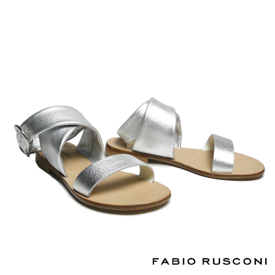 ファビオルスコーニ FABIO RUSCONI フラットヒール サンダル レディース 2019春夏 レザー DH24-19ss
