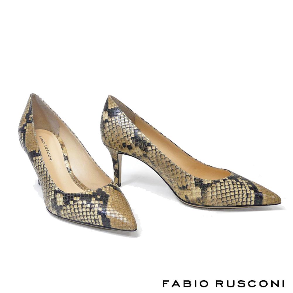 ファビオルスコーニ FABIO RUSCONI ポインテッドトゥ パイソン柄 パンプス ヒール6.5cm MILLY-pythonパンプス 痛くない ヘビ柄 ピンヒール パンプス パーティー 22.5cm 23cm 23.5cm 24cm  彼女 妻 女性 人気 レディース シューズ コーデ 靴