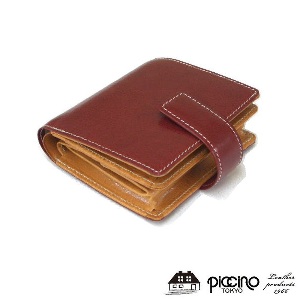 piccino ピッチーノ レザー ボックス小銭入れ付き 折り財布 P133NLレディース 財布 革 レディース 財布 がま口 財布 カード入れ 多い 財布 大容量 小銭入れ有り ギフト プレゼント 誕生日 彼女 妻 女性 人気 お祝い