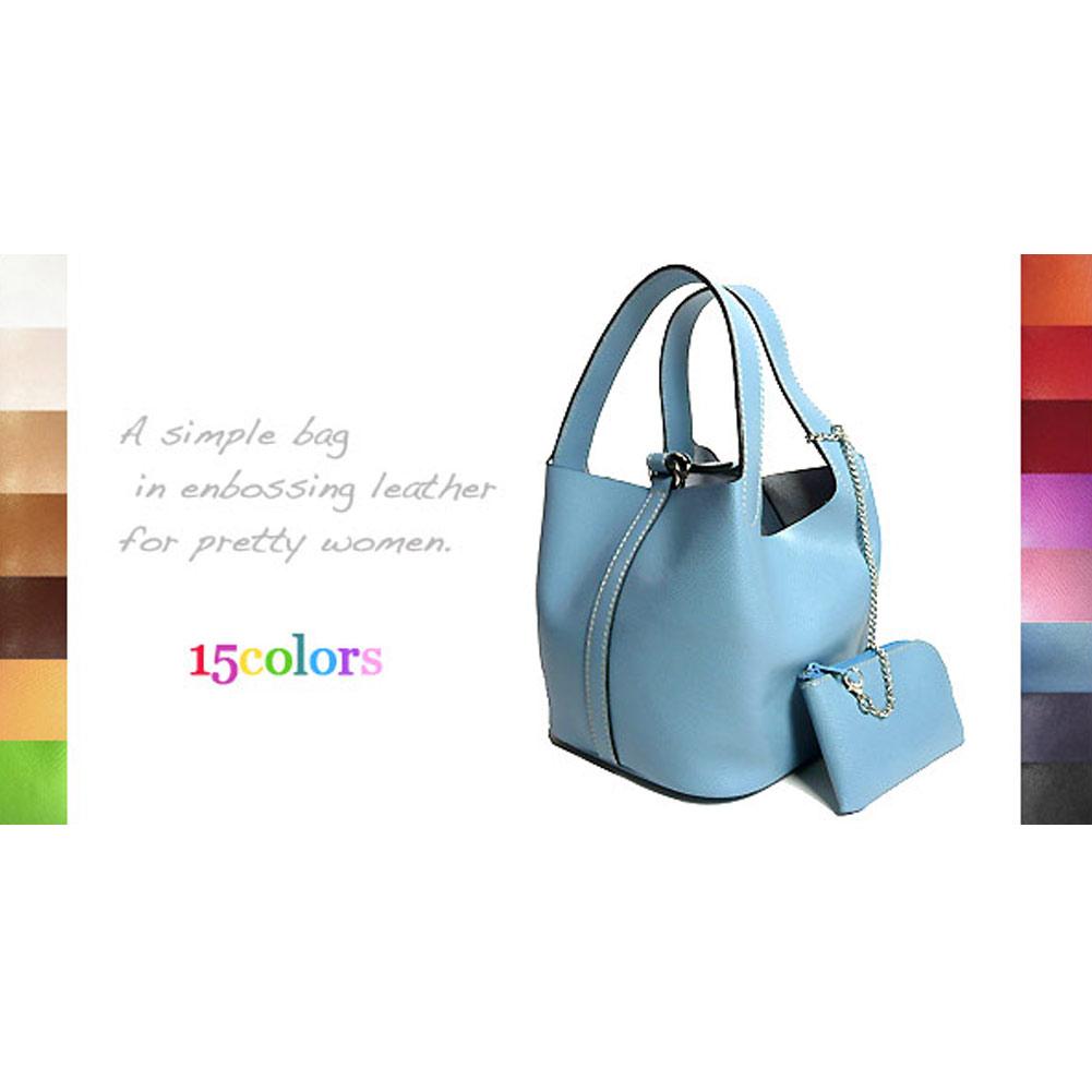 選べる15色! イタリアン・エンボス革 キューブ型 ハンドバッグ 彼女 妻 女性 人気