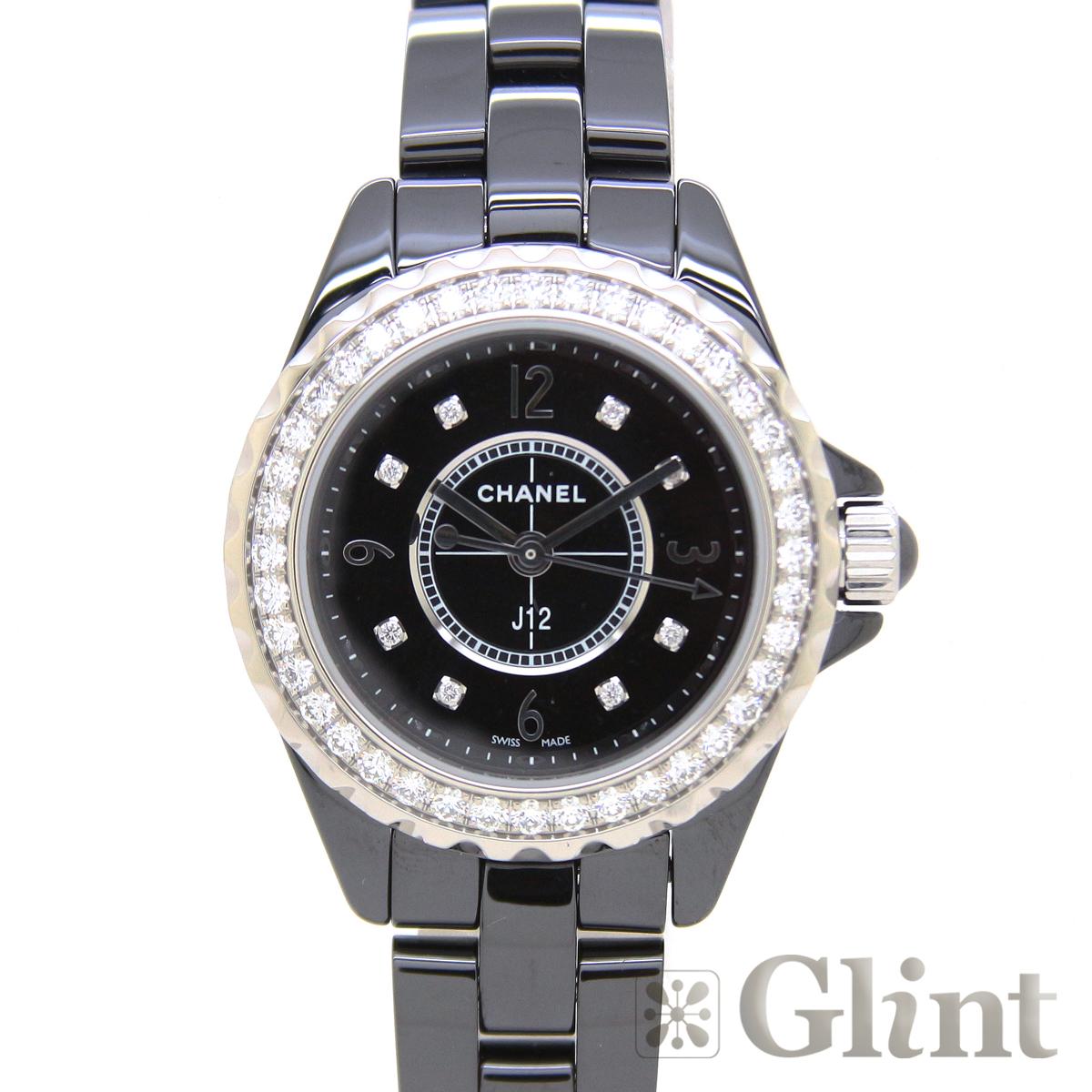 シャネル(CHANEL)J12 ジェイトゥエルヴ H2571 29mm 8Pダイヤモンド ブラックセラミック〔腕時計〕〔レディース〕 〔純正ダイヤモンドベゼル〕【新品】