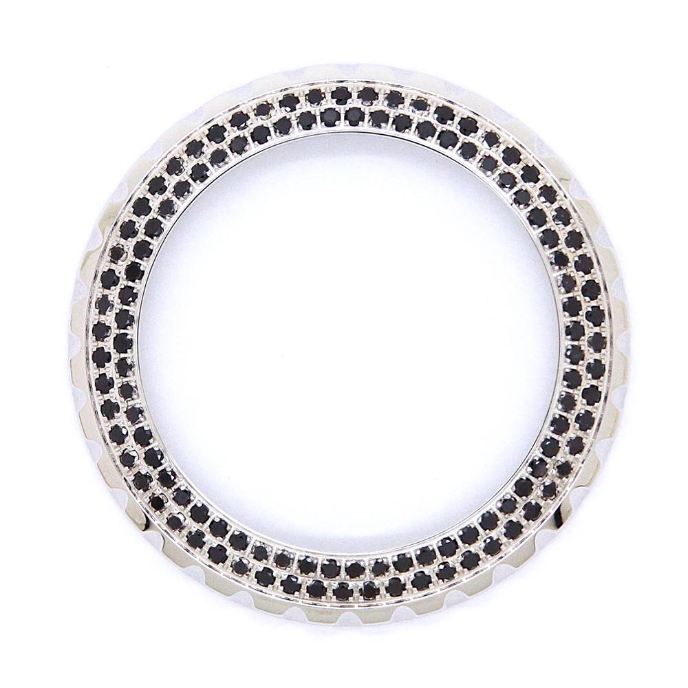 シャネル(CHANEL)J12 ジェイトゥエルヴ 41mm用 2重ブラックダイヤモンドベゼル〔腕時計〕〔ベゼル〕〔新品〕〔メンズ〕