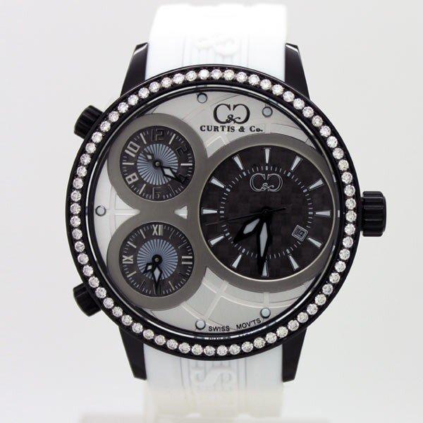 CURTIS&Co(カーティス)BIG TIME WORLD 50mm(ホワイト/ブラックケース) カーティス ビックタイムワールド50mm(BC)【腕時計】