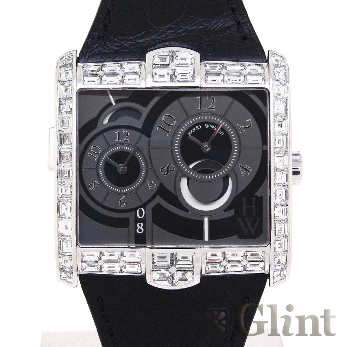 ハリーウィンストン【HARRYWINSTON】ザ・アヴェニュースクエアードA2 AVSATZ45WW005(350/MATZWL.K)〔バゲットダイヤモンド〕〔腕時計〕〔新品〕〔メンズ〕