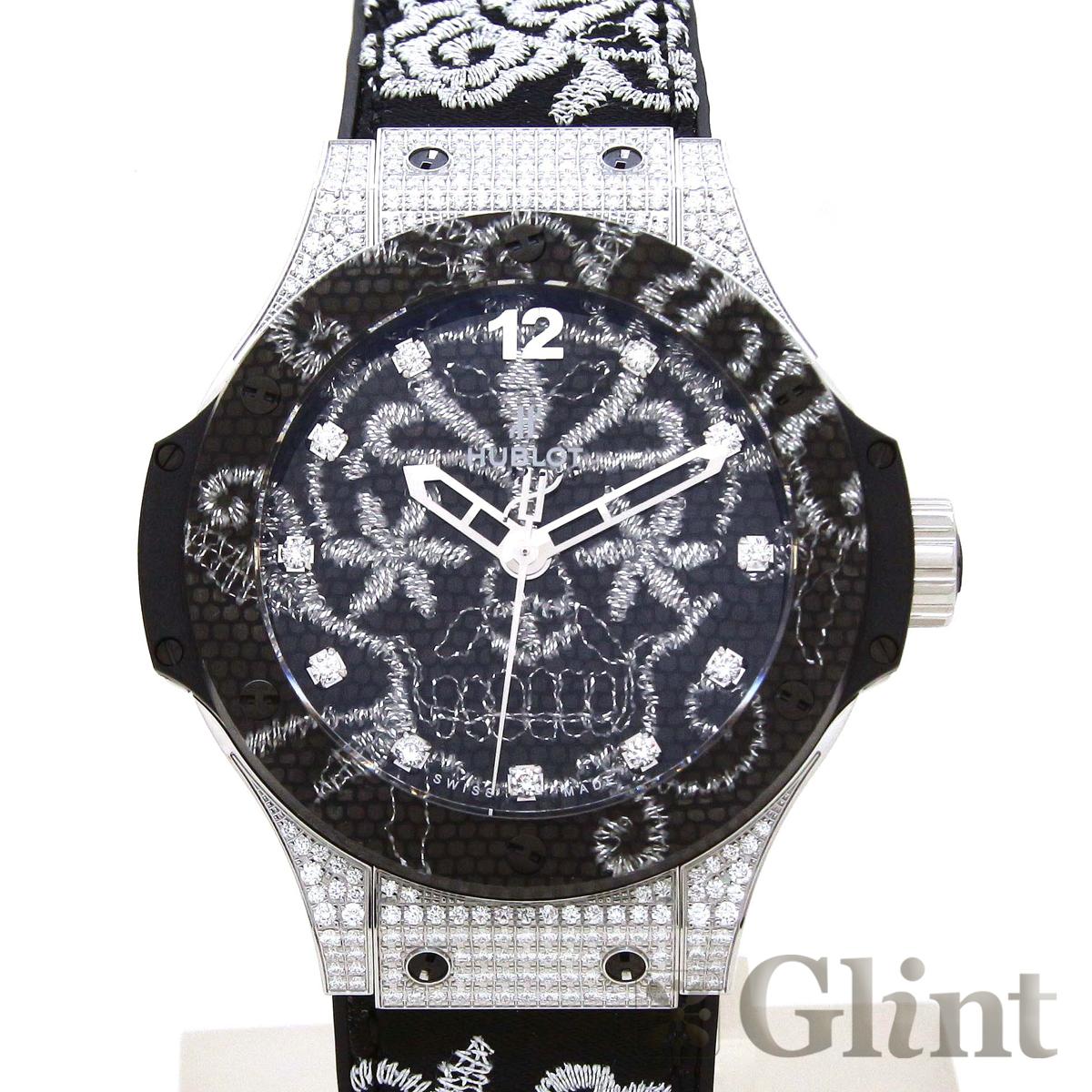 ウブロ(HUBLOT)ビッグバン ブロイダリー スチール ダイヤモンド 343.SX.6570.NR.0804〔腕時計〕〔メンズ〕〔世界限定200本〕【中古】
