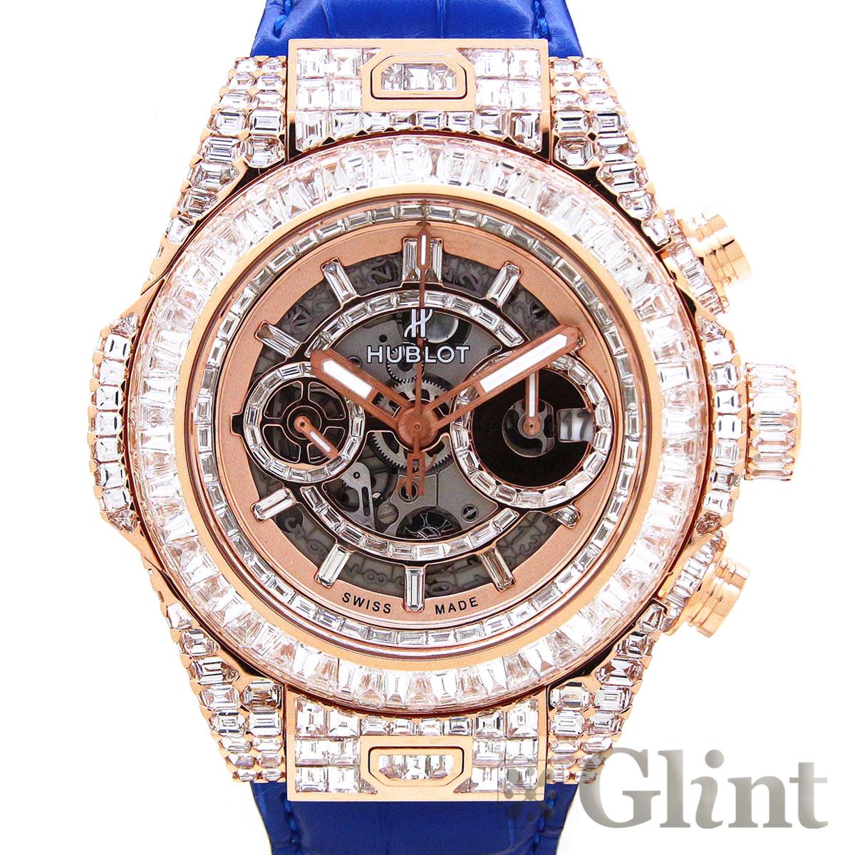 ウブロ ビッグバン ウニコ ハイジュエリー フルバゲットダイヤモンド〔HUBLOT〕〔18Kピンクゴールド〕〔メンズ〕〔腕時計〕