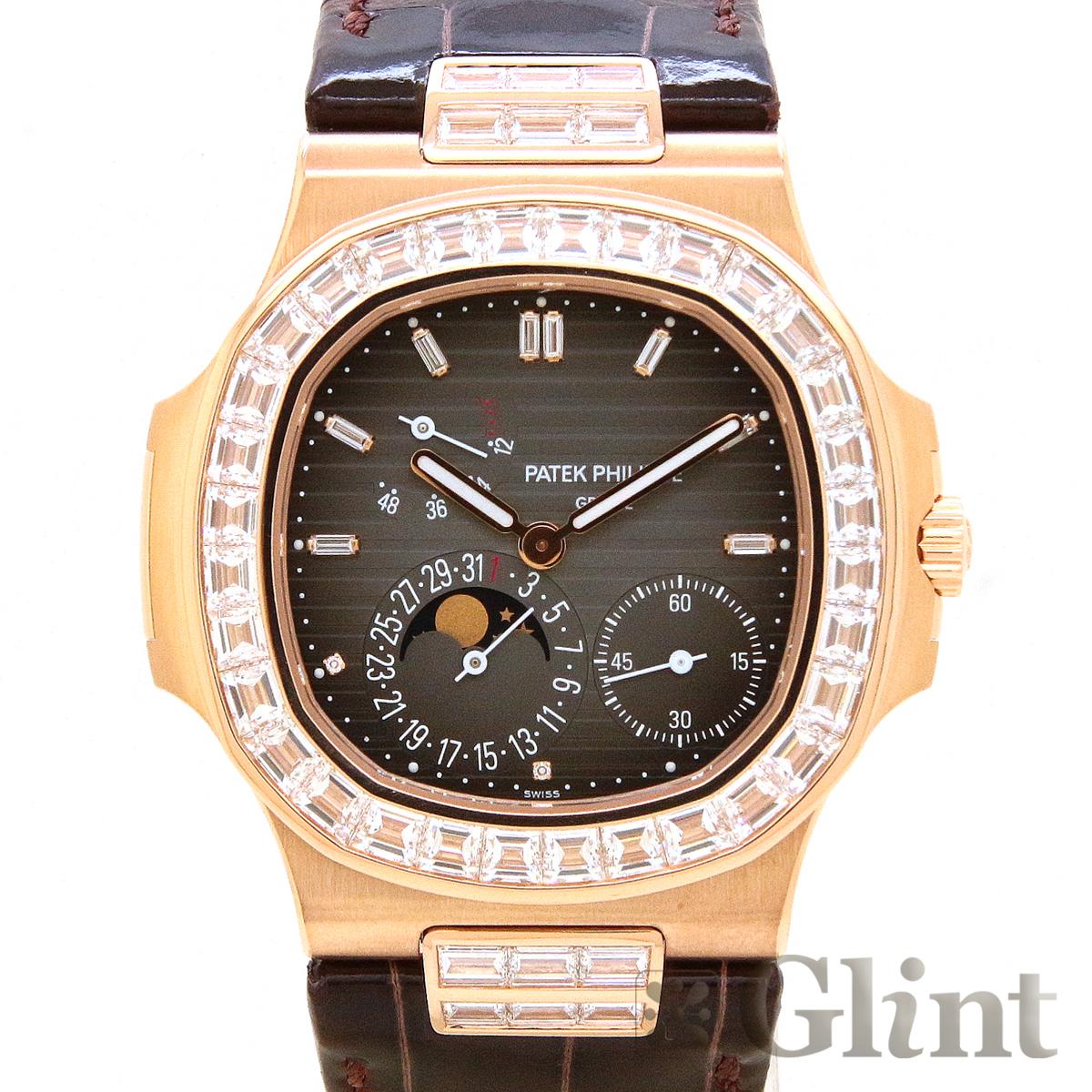 パテックフィリップ (PATEK PHILIPPE)ノーチラス 5724R-001 バゲットダイヤモンド ローズゴールド〔新品〕〔腕時計〕〔メンズ〕〔純正品〕