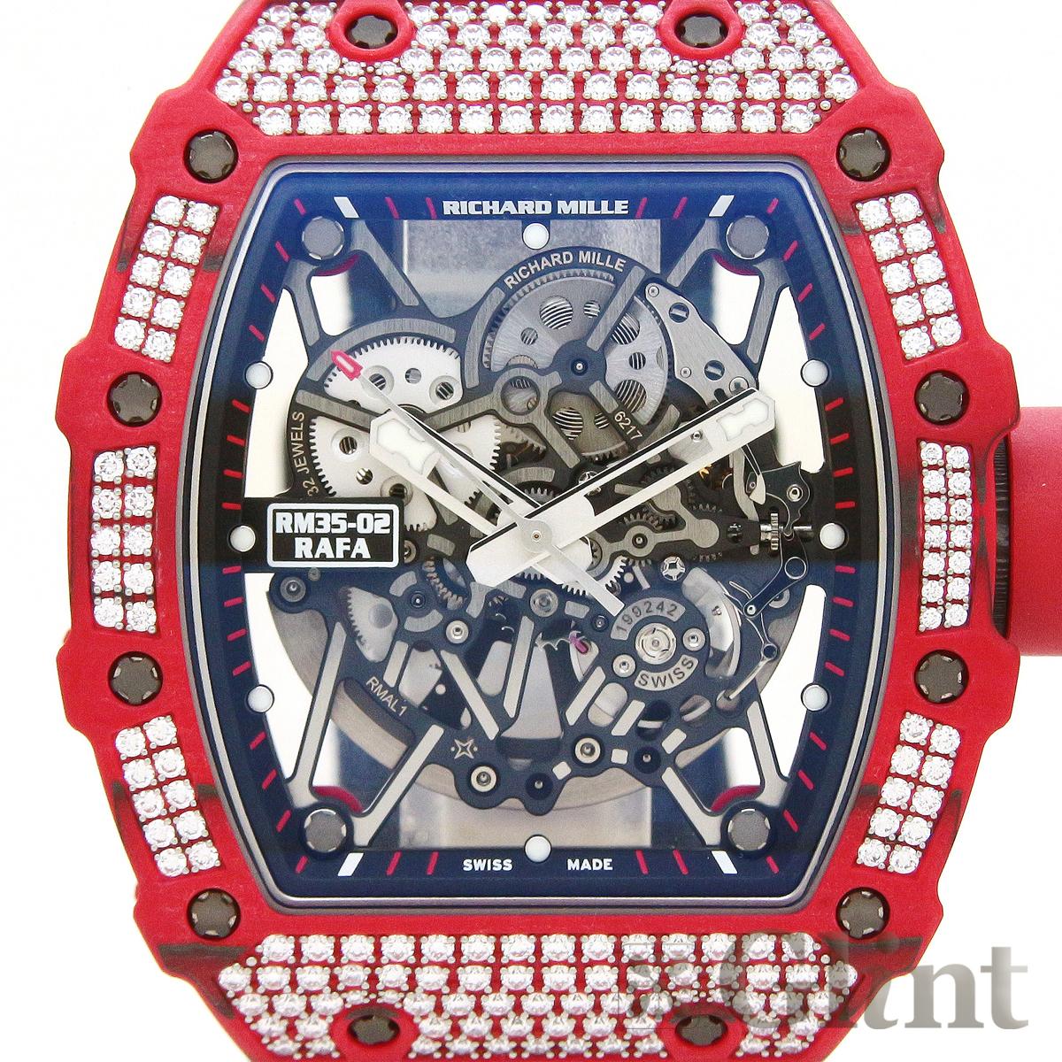 official photos 7cbec 6dd50 リシャールミル【RICHARD MILLE】RM35-02 FQ RAFA ラファエル・ナダル  パヴェダイヤモンド〔新品〕〔腕時計〕〔メンズ〕〔純正ダイヤモンド〕|グリント