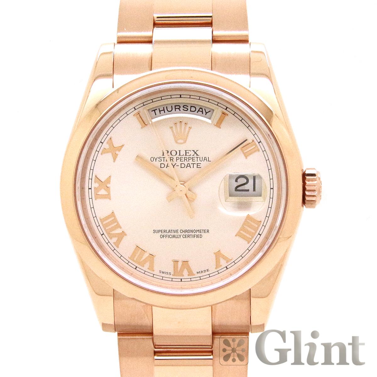ロレックス(ROLEX)デイデイト 118205〔18Kピンクゴールド〔腕時計〕〔メンズ〕〔K番〕【中古】