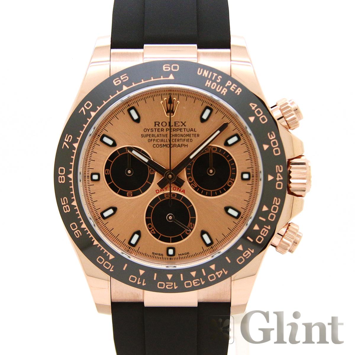 ロレックス(ROLEX)デイトナ 116515LN ピンク・ブラック文字盤〔腕時計〕〔メンズ〕〔2020年2月/ランダムシリアル〕〔未使用品/国内正規品〕【中古】