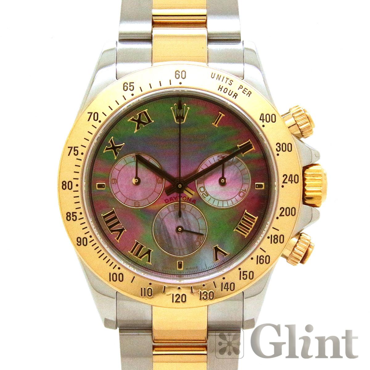ロレックス(ROLEX)デイトナ 116523NR ブラックシェル コンビ ロレゾール ブラック文字盤〔腕時計〕〔メンズ〕〔P番/2000年〕【中古】
