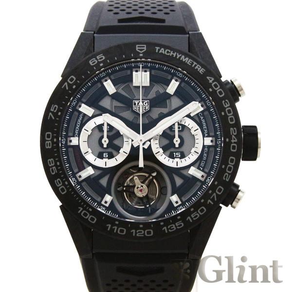 タグホイヤー(TAGHeuer)カレラ キャリバー ホイヤー02 T トゥールビヨン ブラックPVD CAR5A8W.FT6071〔新品〕〔メンズ〕〔腕時計〕