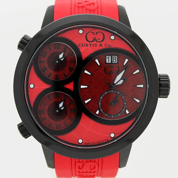 CURTIS&Co(カーティス)BIG TIME WORLD 57mm(Red/BC) カーティス ビックタイムワールド57mm【腕時計】