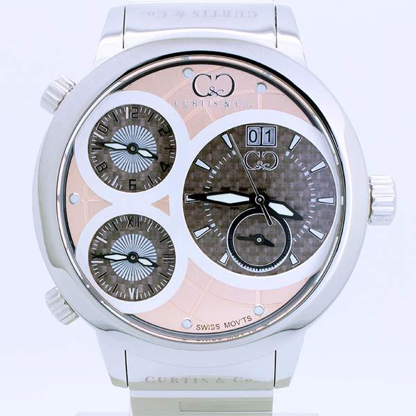 CURTIS&Co(カーティス)BIG TIME WORLD 57mm(RG) カーティス ビックタイムワールド57mm【腕時計】