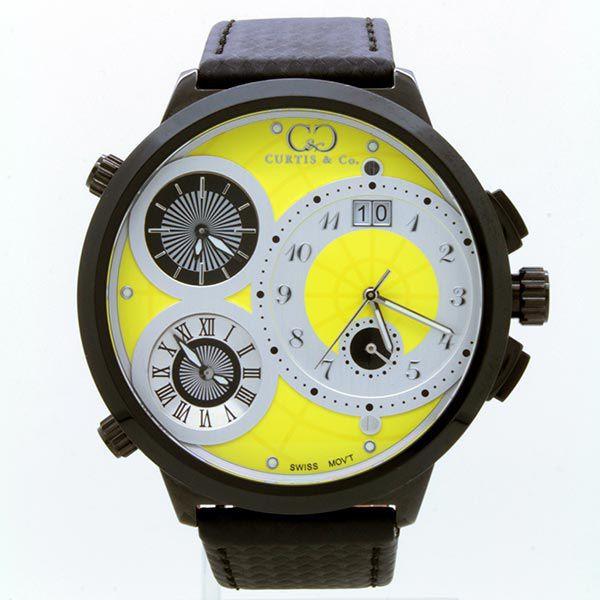 CURTIS&Co(カーティス)BIG TIME WORLD 57mm(Yellow) カーティス ビックタイムワールド57mm【腕時計】
