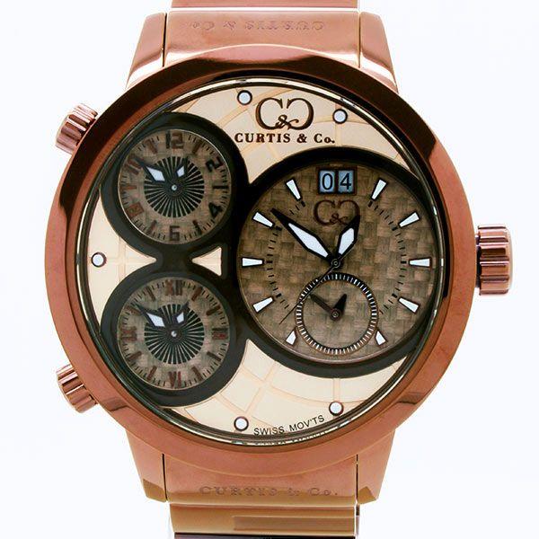 CURTIS&Co(カーティス)BIG TIME WORLD 57mm(RG/BRC) カーティス ビックタイムワールド57mm【腕時計】