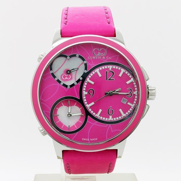 CURTIS&Co(カーティス)BIG TIME LOVE(Pink) カーティス ビックタイムラブ50mm【腕時計】