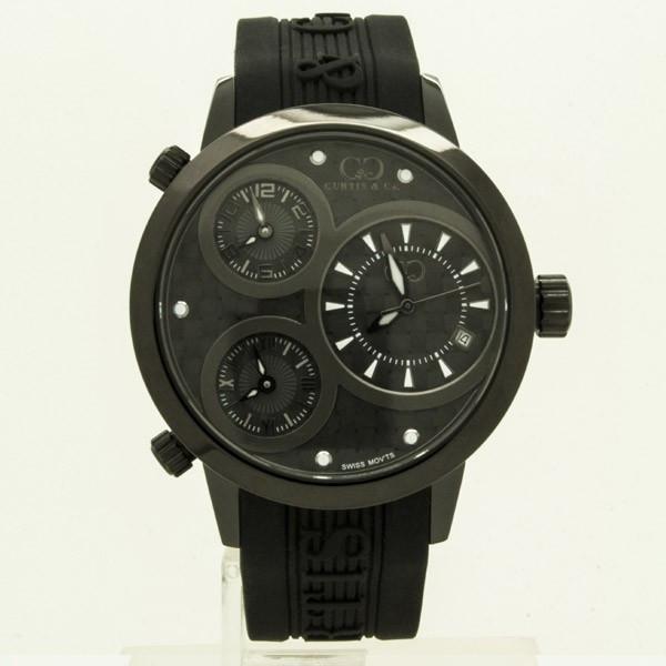 CURTIS&Co(カーティス)BIG TIME WORLD 42mm(Black) カーティス ビックタイムワールド42mm【腕時計】