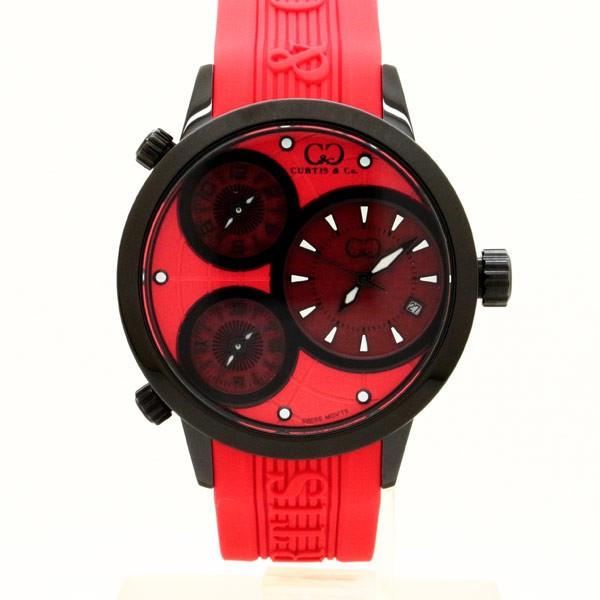 CURTIS&Co(カーティス)BIG TIME WORLD 42mm(Red) カーティス ビックタイムワールド42mm【腕時計】