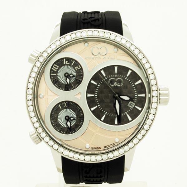 CURTIS&Co(カーティス)BIG TIME WORLD 50mm(Rose Gold) カーティス ビックタイムワールド50mm ダイヤモンド【腕時計】