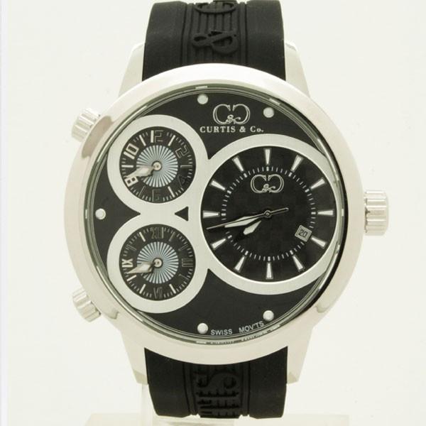 CURTIS&Co(カーティス)BIG TIME WORLD 50mm(Black) カーティス ビックタイムワールド50mm【腕時計】