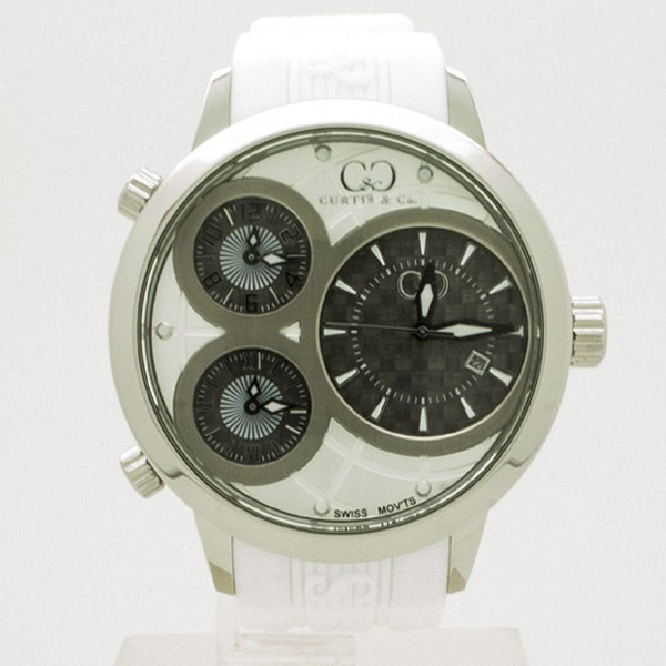 CURTIS&Co(カーティス)BIG TIME WORLD 50mm(White) カーティス ビックタイムワールド50mm【腕時計】