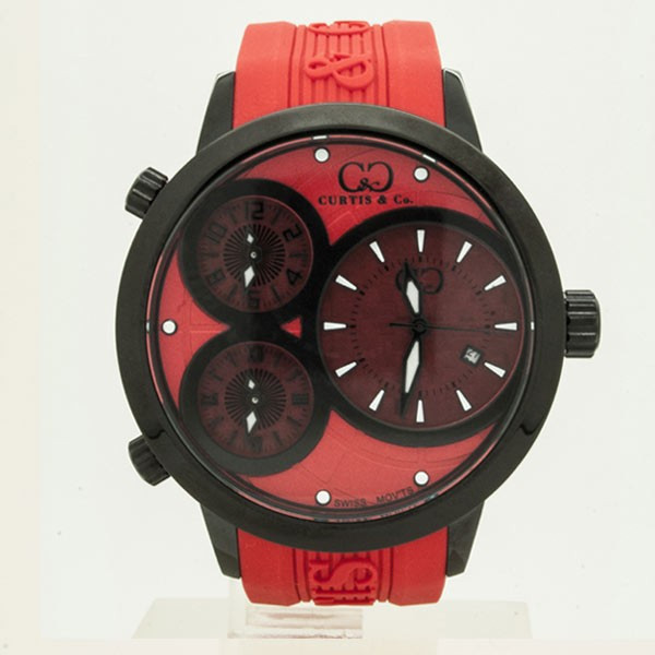 CURTIS&Co(カーティス)BIG TIME WORLD 50mm(Red/BC) カーティス ビックタイムワールド50mm【腕時計】