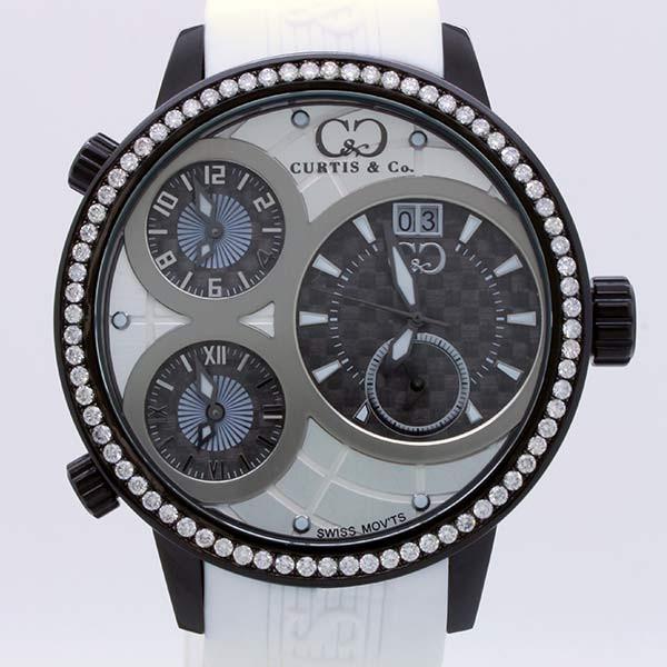 CURTIS&Co(カーティス)BIG TIME WORLD 57mm(White/BC) カーティス ビックタイムワールド57mm ダイヤモンド〔腕時計〕