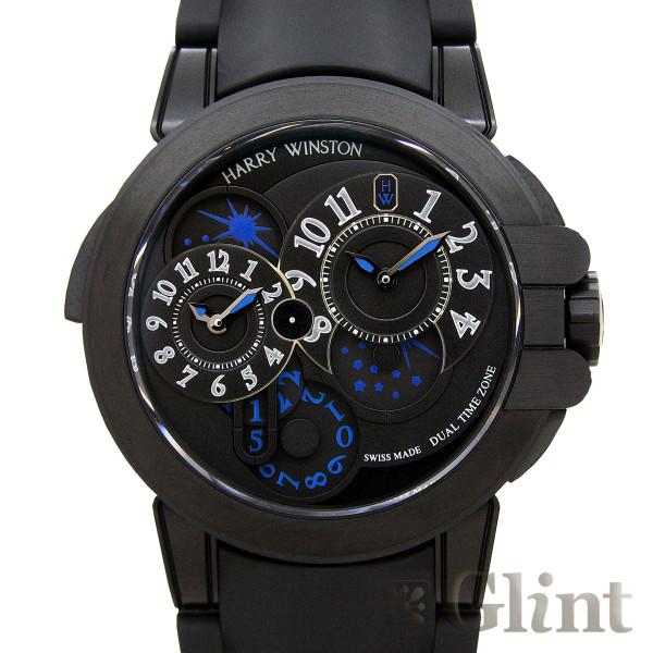 ハリーウィンストン【HARRYWINSTON】オーシャン デュアルタイム ブラックエディション OCEATZ44ZZ007〔メンズ〕〔腕時計〕〔新品〕
