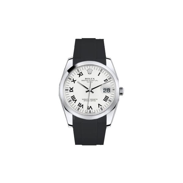 ラバーB【RUBBERB】ROLEXオイスターパーペチュアル 34mm専用ラバーベルト 色:ブラック【ROLEX純正バックルを使用】※時計、バックルは付属しません