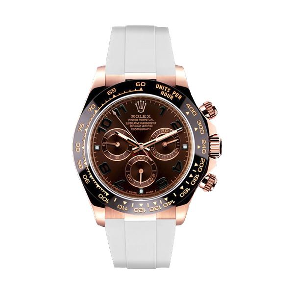 宅配便送料無料 高級時計をカジュアルにROLEXデイトナ専用のラバーベルト ラバーB 2020A/W新作送料無料 RUBBERB ロレックス ROLEX デイトナ 革ストラップ ホワイト ※時計は付属しません 116515LN 専用ラバーベルト DAYTONA