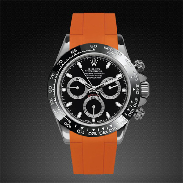 meet 5fd6f 808ac ラバーB【RUBBERB】ロレックス(ROLEX)デイトナ(DAYTONA)オイスターブレスレットモデル専用ラバーベルト【オレンジ】【尾錠付き】※時計は付属しません|グリント
