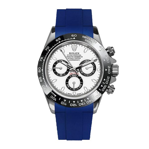 ラバーB【RUBBERB】ロレックス(ROLEX)デイトナ(DAYTONA)オイスターブレスレットモデル専用ラバーベルト【ブルー】【尾錠付き】※時計は付属しません
