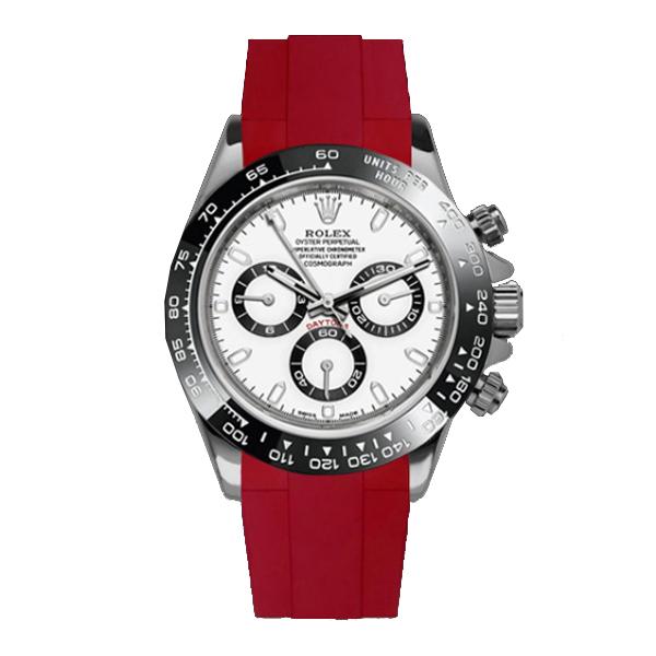 高級時計をカジュアルにROLEXデイトナ専用のラバーベルト! ラバーB【RUBBERB】ロレックス(ROLEX)デイトナ(DAYTONA)オイスターブレスレットモデル専用ラバーベルト【レッド】【尾錠付き】※時計は付属しません