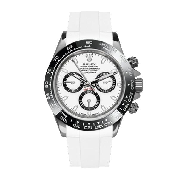 高級時計をカジュアルにROLEXデイトナ専用のラバーベルト ラバーB RUBBERB ロレックス ROLEX デイトナ 人気上昇中 バックルは付属しません オイスターブレスレットモデル専用ラバーベルト ホワイト ROLEX純正バックルを使用 DAYTONA 送料無料 激安 お買い得 キ゛フト ※時計