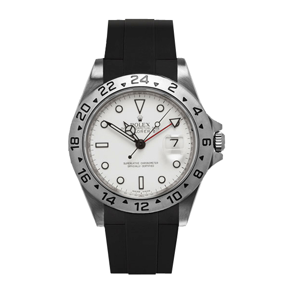 ラバーB【RUBBERB】ROLEXエクスプローラーII専用ラバーベルト 色:ブラック【尾錠付き】※時計は付属しません