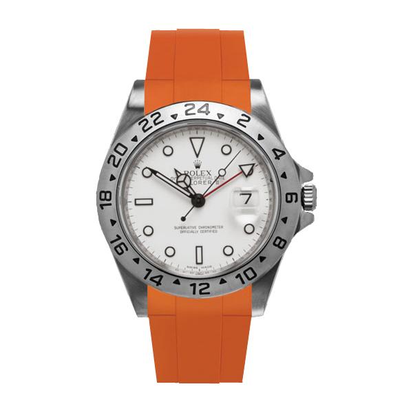 高級時計をカジュアルにROLEXエクスプローラーII専用ラバー ラバーB【RUBBERB】ROLEXエクスプローラーII専用ラバーベルト 色:オレンジ【尾錠付き】※時計は付属しません