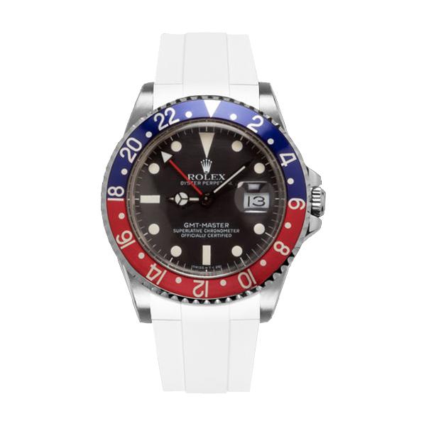 ラバーB【RUBBERB】ROLEX GMTマスター専用ラバーベルト 色:ホワイト【尾錠付き】※時計は付属しません