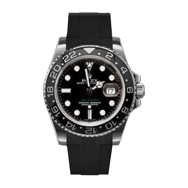 ラバーB【RUBBERB】ROLEXGMTマスターIIセラミック専用ラバーベルト 色:ブラック【ROLEX純正バックルを使用】※時計、バックルは付属しません