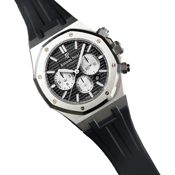 ラバーB【RUBBERB】オーデマピゲ【Audemars Piguet】ロイヤルオーク 41mmブレスレットモデル専用ラバーベルト【ブラック】【VELCRO】 ※時計は付属しません。