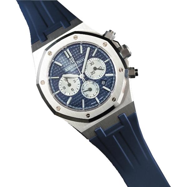 ラバーB【RUBBERB】オーデマピゲ【Audemars Piguet】ロイヤルオーク 41mmブレスレットモデル専用ラバーベルト【ネイビー】【VELCRO】 ※時計は付属しません。