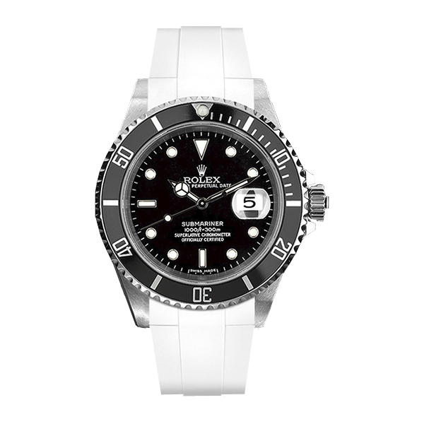 ラバーB【RUBBERB】ROLEX サブマリーナ専用ラバーベルト 色:ホワイト【尾錠付き】※時計は付属しません