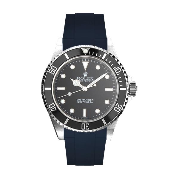 ラバーB【RUBBERB】ROLEXサブマリーナ(Ref.14060)専用ラバーベルト 色:ネイビー【ROLEX純正バックルを使用】※時計、バックルは付属しません