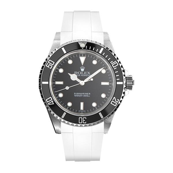 ラバーB【RUBBERB】ROLEXサブマリーナ(ref:14060)専用ラバーベルト 色:ホワイト【尾錠付き】※時計は付属しません