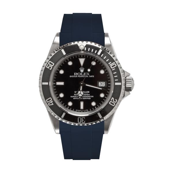 ラバーB【RUBBERB】ROLEX シードゥエラー専用ラバーベルト 色:ネイビー【ROLEX純正バックルを使用】※時計、バックルは付属しません