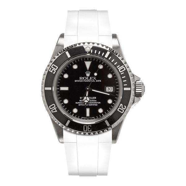 ラバーB【RUBBERB】ROLEXシードゥエラー専用ラバーベルト 色:ホワイト【ROLEX純正バックルを使用】※時計、バックルは付属しません