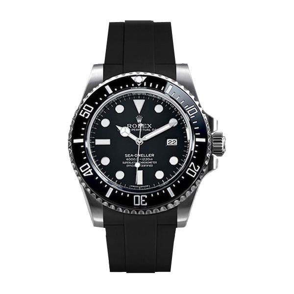 ラバーB【RUBBERB】ROLEXシードゥエラー4000専用ラバーベルト 色:ブラック【尾錠付き】※時計は付属しません