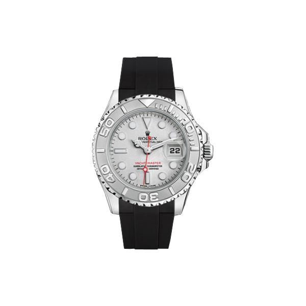 ラバーB【RUBBERB】ROLEXヨットマスター(35mm ボーイズ)専用ラバーベルト 色:ブラック【尾錠付き】※時計は付属しません
