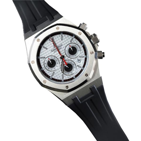ラバーB【RUBBERB】オーデマピゲ【Audemars Piguet】ロイヤルオーク 39mmモデル専用ラバーベルト【ブラック】【VELCRO】 ※時計は付属しません。